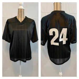 NWOT Unisex custom '24' black jersey medium